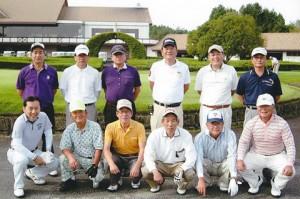 親睦ゴルフ大会記念写真